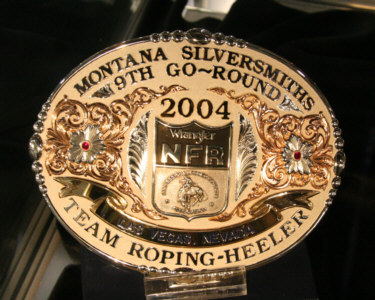 2004 NFR 9th Go Round TEAM ROPING Buckle